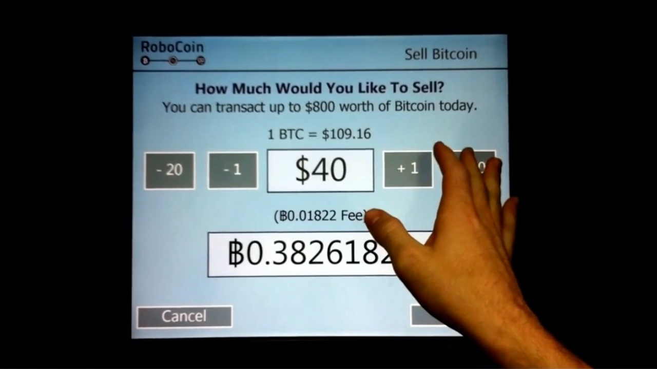 how to use a bitcoin atm to sell