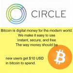 Bitcoin consumer platform debuts at Circle, Free $10 of Bitcoin