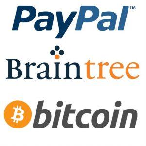 PayPalBraintreeBitcoin