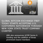 Global Bitcoin Exchange ITBIT Today Starts Accepting U.S. Customers Nationwide